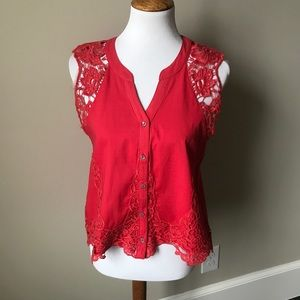 NWT Vintage America lace blouse